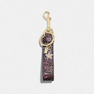 🌸 Coach F77962 Loop Bag Charm Key Chain 🌸